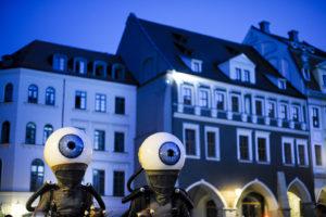 ViaThea-Straßentheaterfestival, 2013 Goerlitz. COMPAGNIE D' OUTRE RUE (B); Orbilys. Foto: Pawel Sosnowski